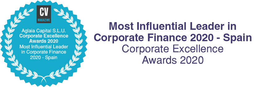 Most Influential Corporate Finance Leader - Corporate Excellence Awards 2020 - Aglaia Capital